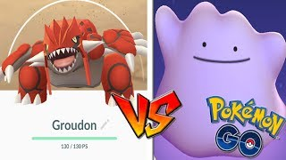 QUÉ PASA si USO DITTO CONTRA GROUDON en Pokémon GO! Nuevo Legendario! [Keibron]