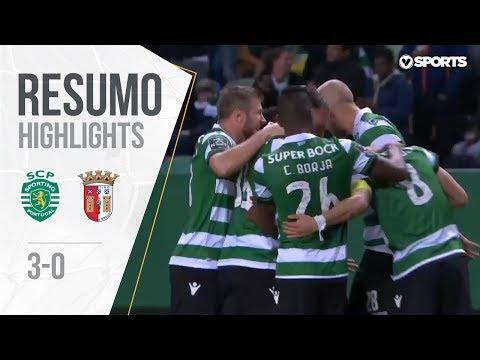 Highlights | Resumo: Sporting 3-0 Sp. Braga (Liga 18/19 #22)