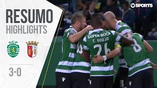 Highlights | Resumo: Sporting 3-0 Sp. Braga (Liga 18/19 #22)