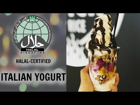 llao llao? Nope. Halal certified Italian yogurt, Singapore [Coolman @ Downtown East]