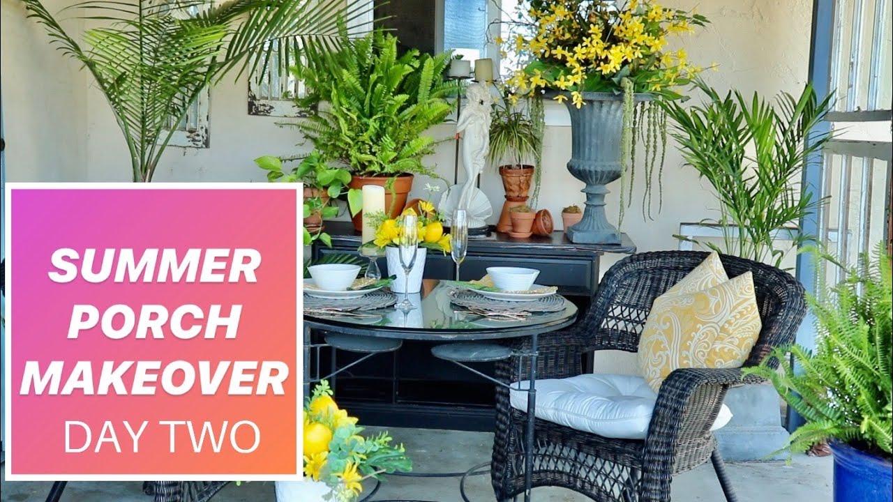 Diy Patio Makeover Project 2020 Spring Summer Porch Decor Ideas Youtube