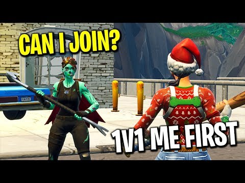 I let people tryout for my Fortnite clan in Playground fill...