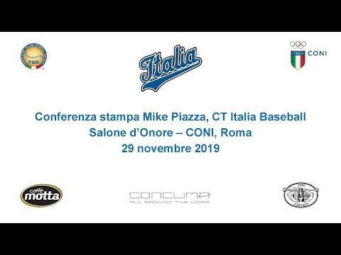 Presentazione Mike Piazza manager Italia Baseball