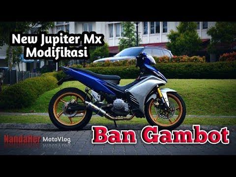 Modifikasi New Jupiter Mx || BAN GAMBOT || jadi motor BADAI #motovlogindonesia