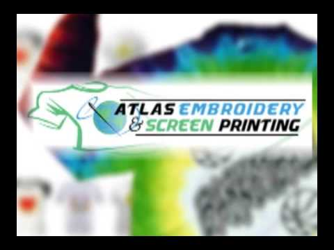 Atlas Embroidery Screen Printing Youtube