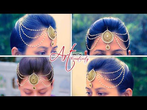 Bridal Maang tikka | bridal jewelry | Easy way to make mang tika | 5 min craft | Art with Creativity