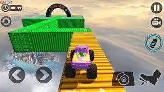 Crazy Monster Truck Legends 3D - Monster 4x4 Truck Stunt Games - Android Gameplay FHD
