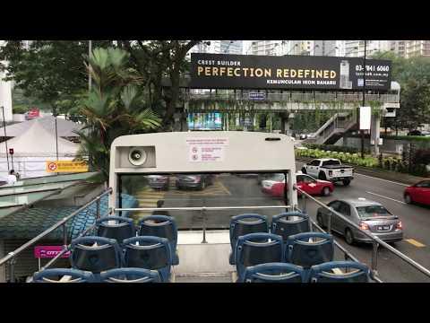 MALAYSIAN KUALA LUMPUR CITY BUS TOUR PART 2 - 20 min tour (no commentary)