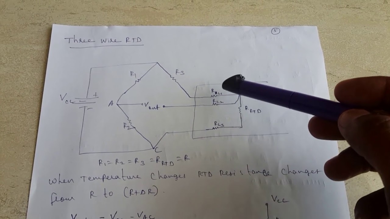 2 wire and 3 wire rtd resistance temperature detector part2 [ 1280 x 720 Pixel ]
