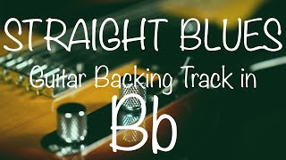 Straight Blues Guitar Backing Track in Bb