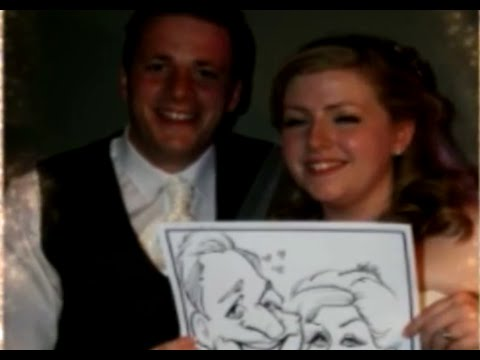 Wedding Caricatures, Nottingham - Mr & Mrs Parson