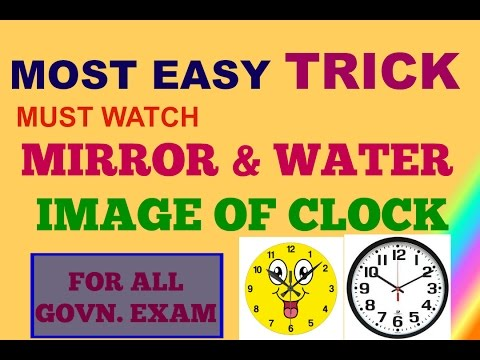 Short Tricks to Solve Mirror and Water Images  of clock  in Reasoning || clock reasoning trick