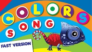 Colors Song (Fast Version) | Learn Colors in English | Children