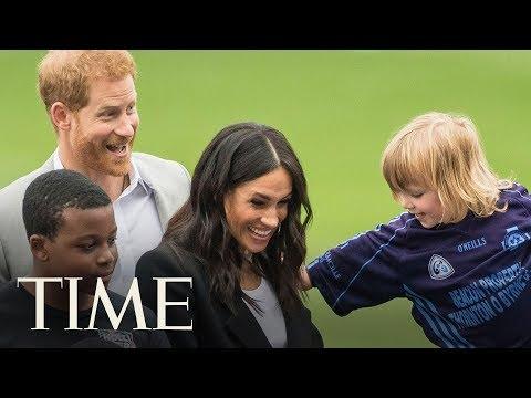 Prince Harry And Meghan Markle Visit Croke Park And Meet Irish President Michael Higgins | TIME