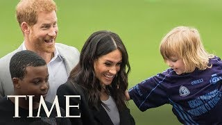 Prince Harry And Meghan Markle Visit Croke Park And Meet Irish President Michael Higgins | TIME