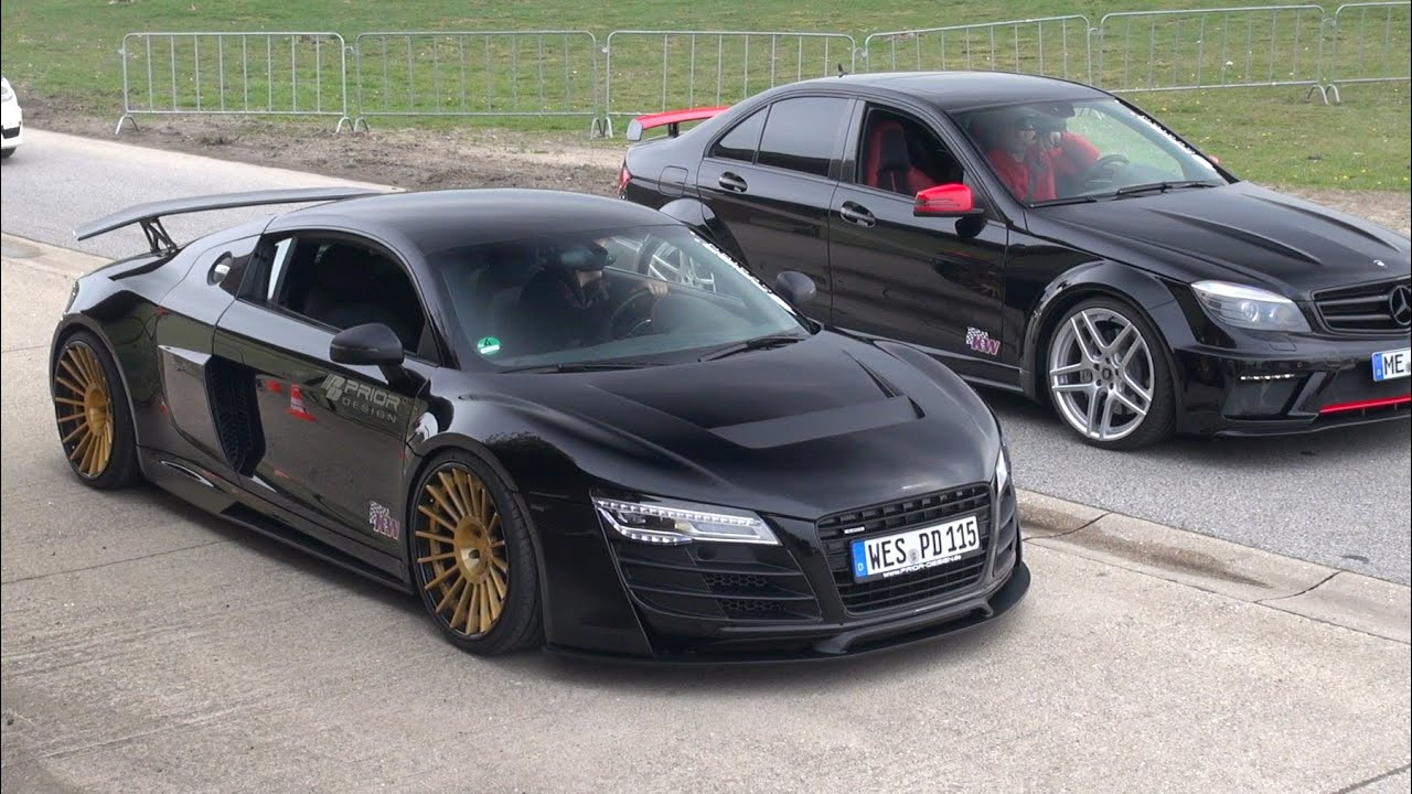 Audi R8 PD GT850 vs C63 AMG Prior Design Androsch Edition - YouTube