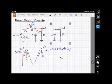 Electronics Circuits & Systems I Day 10 (TH) - Rectifier with RC PI Filter