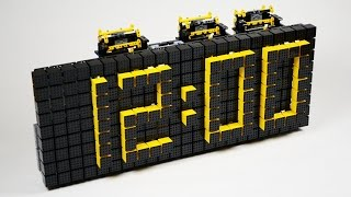 Time Twister 4 is a digital clock built entirely out of LEGO bricks. It is powered by LEGO Mindstorms. The clock display is made up of