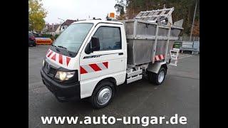 Youtube-Video Piaggio Porter Maxxi Müllwagen Presse Schüttung Alu 4m³