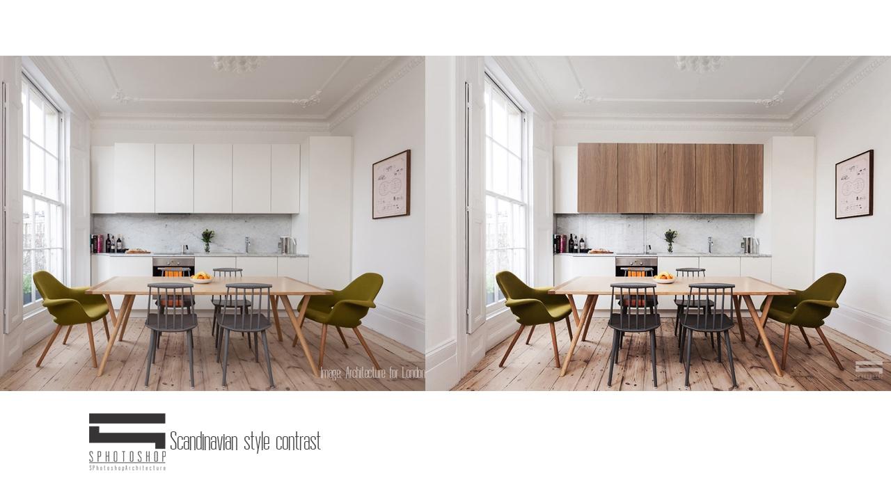 Scandinavian Interior Contrast   Photoshop Architecture