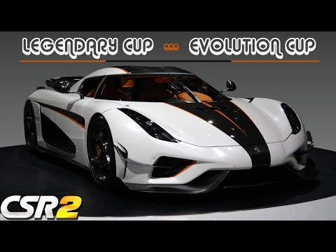 LEGENDARY AND EVOLUTION CUP WITH THE REGERA  | CSR RACING 2