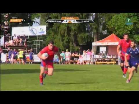 Liechtenstein vs. Iceland 7's Tournament Latvia 2013 Rugby - Highlights