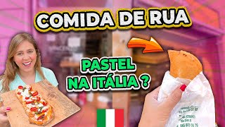 PROVANDO COMIDAS DE RUA EM VERONA NA ITÁLIA