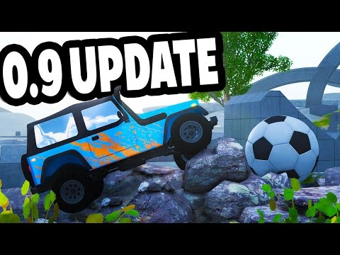 HUGE UPDATE! NEW CAR, PROPS & MORE! - BeamNG Drive Alpha 0.9 Update