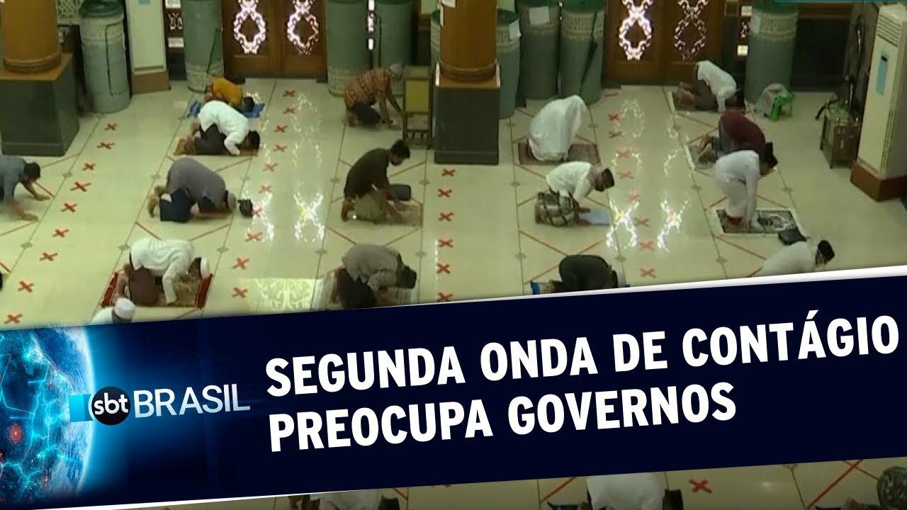 Covid-19: Segunda onda de contágio preocupa países de todo o mundo | SBT Brasil (29/05/20)