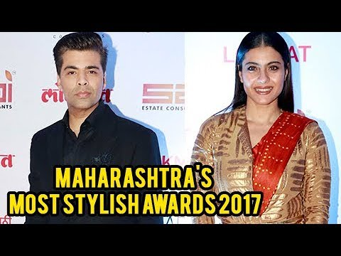 Best Friends Karan Johar And Kajol At Maharashtra's Most Stylish Awards