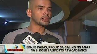 Benjie Paras, proud sa galing ng anak na si Kobe sa sports at academics