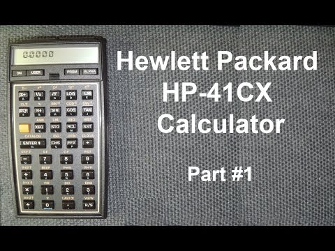 HP 41CX Calculator 30 Years On - Part 1