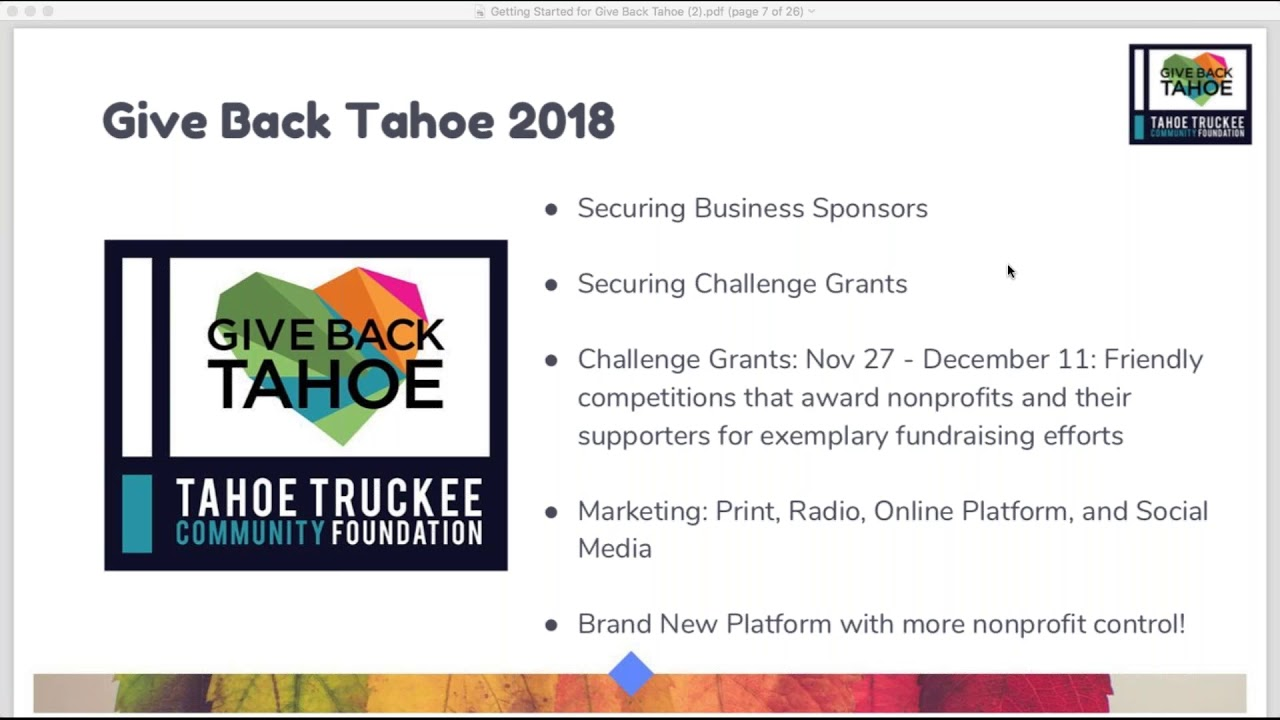 For Nonprofits   Give Back Tahoe