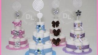Como fazer mini bolo de fralda em EVA para lembrancinha