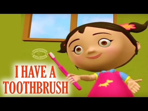 I HAVE A TOOTHBRUSH NEAT AND GAY | 3D Nursery Rhymes Collections For Kids