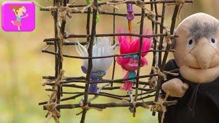 Тролли в беде Розочка попала в клетку новые серии trolls toys мультфильмы для детей