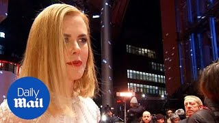 Nicole Kidman dazzles in white on the red carpet in Berlin - Daily Mail