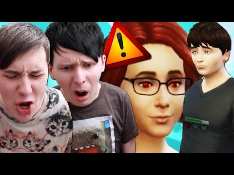 DIL HAS A STALKER - Dan and Phil Play: Sims 4 #15