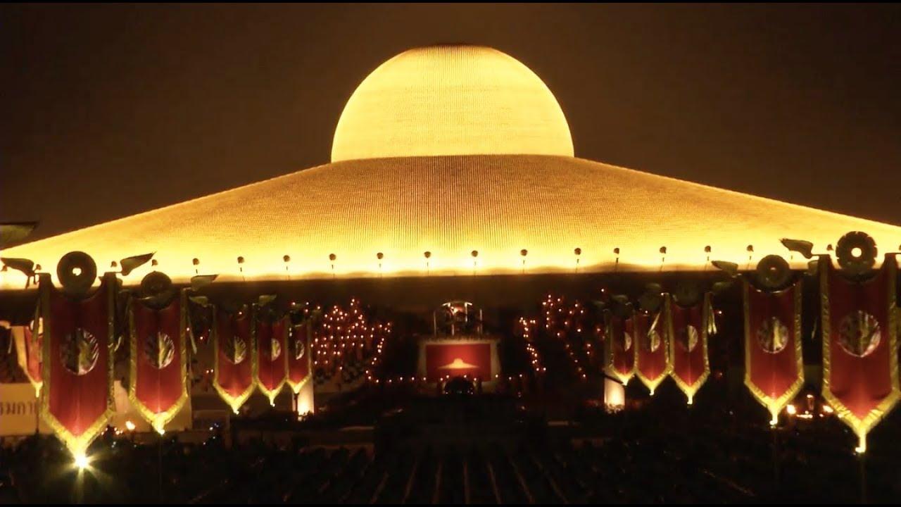 Buddhists Celebrate Full Moon Festival Youtube