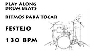Play along drums Peruvian Festejo bpm 130 :: Ritmo Para Festejo Peruano bpm 130