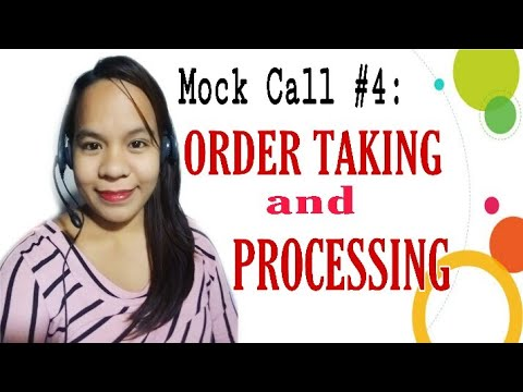 Mock Call #4: Order Taking and Processing| Seasonal and Full time account