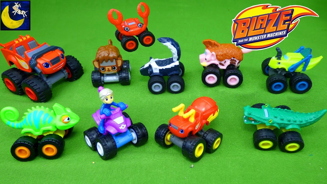 Blaze And The Monster Machines Toys Copter Swoops Mini Gabby Lazard Animal Island Trucks Toy