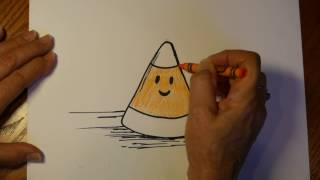 How to Draw Halloween Cartoon Candy Corn