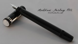Montblanc Heritage 1912 Fountain Pen Review