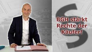Dieselskandal - BGH stärkt Rechte der Käufer!