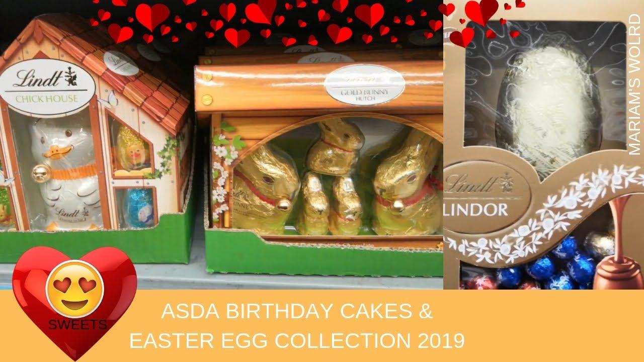 Asda Shopping Vlog Birthday Cakes Easter Egg Collection