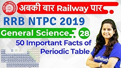 12:00 PM - RRB NTPC 2019 | GS by Shipra Ma'am | 50 Important Facts of Periodic Table