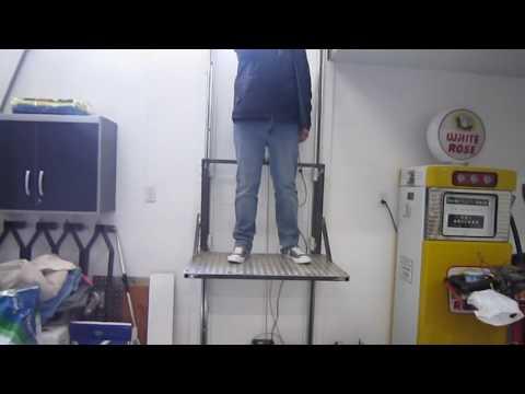 Home made shop/garage elevator