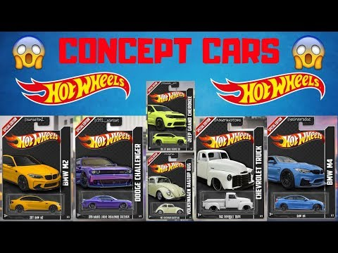 Hot Wheels Concept Cars! BMW, Ford Mustang, Volkswagen,...