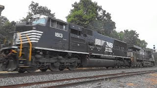 Some Trains In Shenandoah Junction With NS 1813